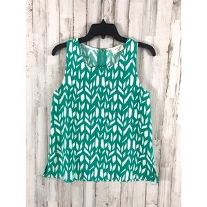 Everly 🦄 Sleeveless chevron trapeze fit blouse S